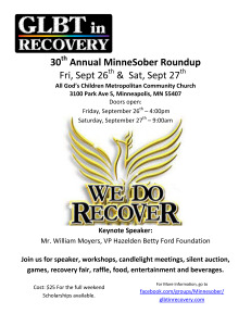 30th Annual MinneSober Roundup flyer