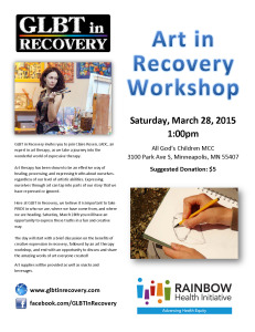 Art in Recovery - March 2015