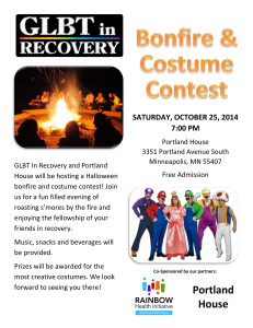 Bonfire and Costume Contest Poster - October 2014