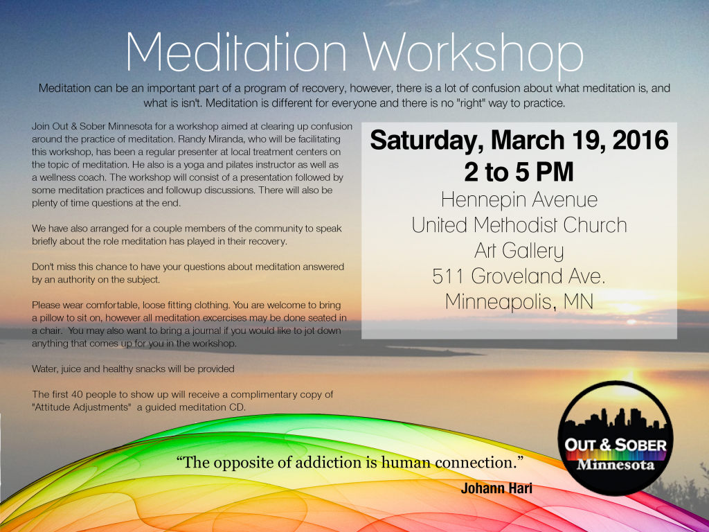 meditation workshop flier