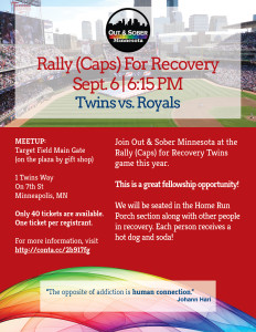 rally caps for recovery event 2016